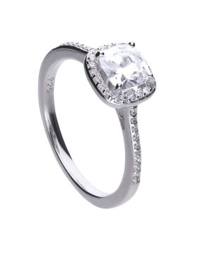 Diamonfire CZ Square Cut Pavé Ring R3626