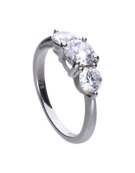 Diamonfire Zirconia 3-stone Trilogy Ring R3657