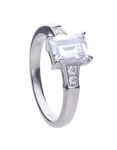 Diamonfire Emerald Cut Zirconia Ring R3714