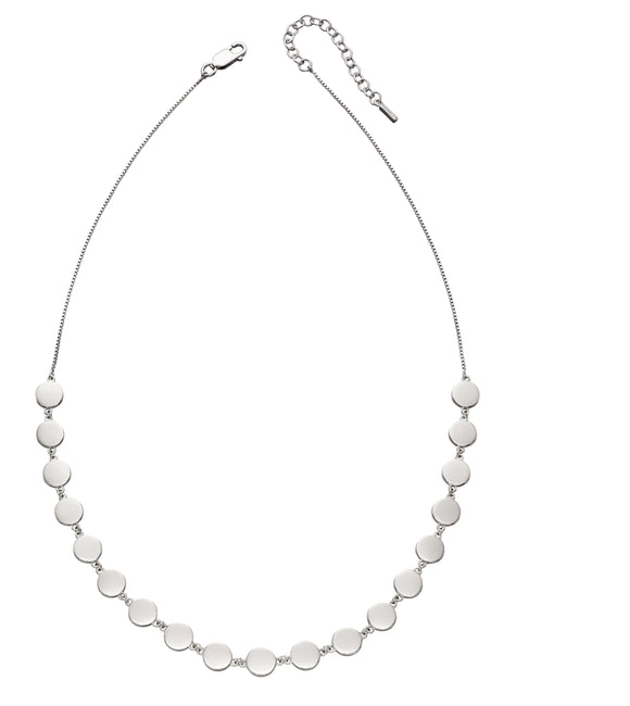 Fiorelli Silver Flat Disc Necklace