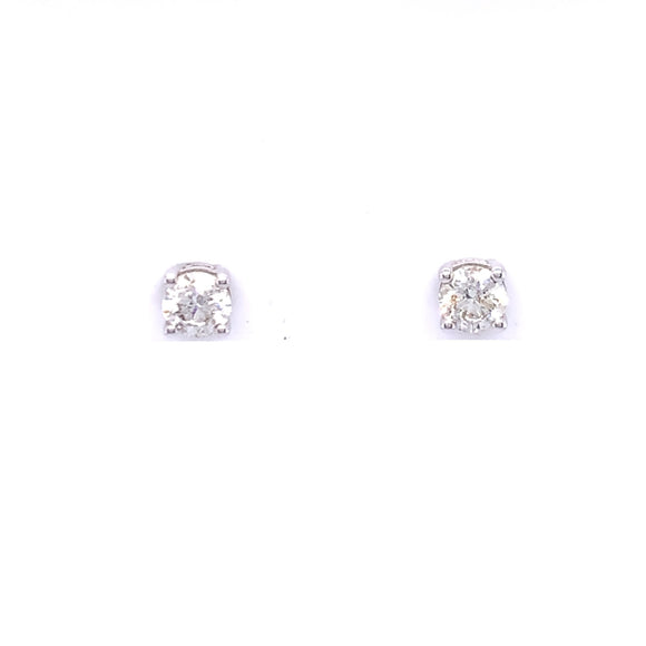 18ct White Gold Diamond 0.50ct Stud Earrings