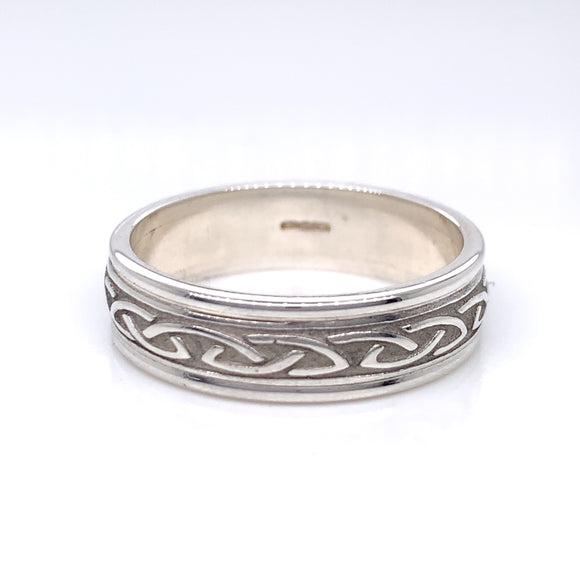 Sterling Silver Ladies Raised Celtic Knot Ring