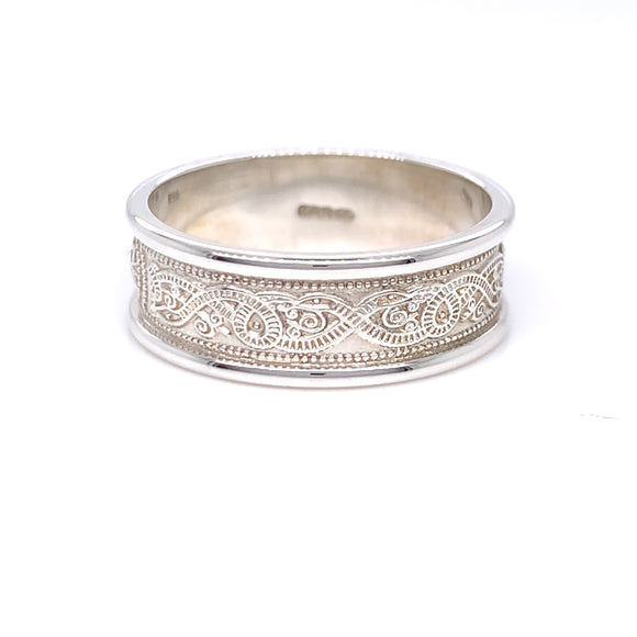 Sterling Silver Ladies Celtic Shield Ring
