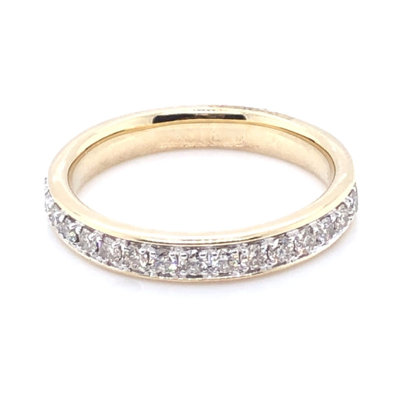 9ct Gold Classic Diamond Pavé Band 0.33ct