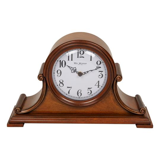 Wm Widdop Quartz Chime Wooden Mantel Clock