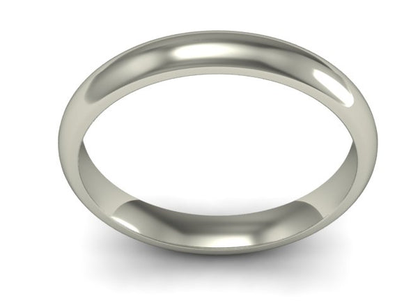 9ct White Gold 5mm Wedding Band