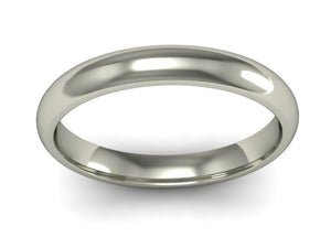 18ct White Gold 3mm Wedding Band