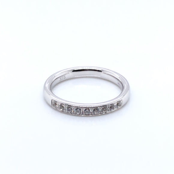 9ct White Gold CZ Eternity Ring