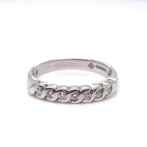 9ct White Gold Diamond 0.14ct Eternity Ring