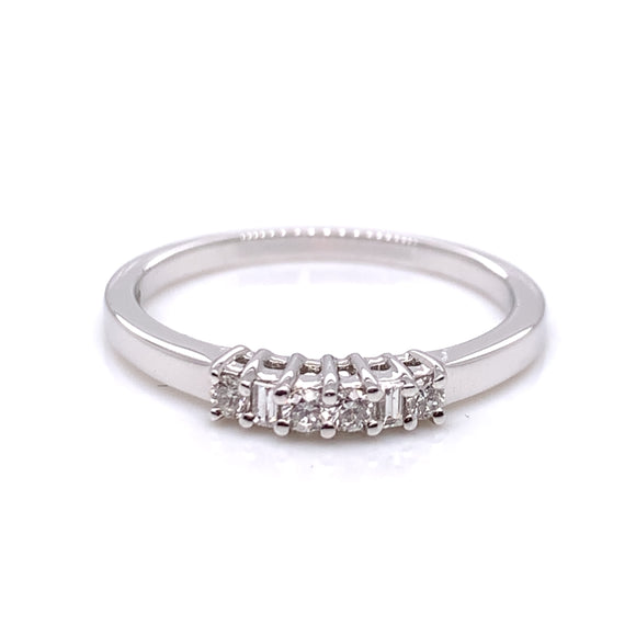 18ct White Gold Dainty Diamond Eternity Ring