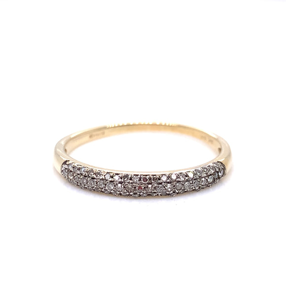 9ct Gold Diamond 0.15ct Eternity Ring