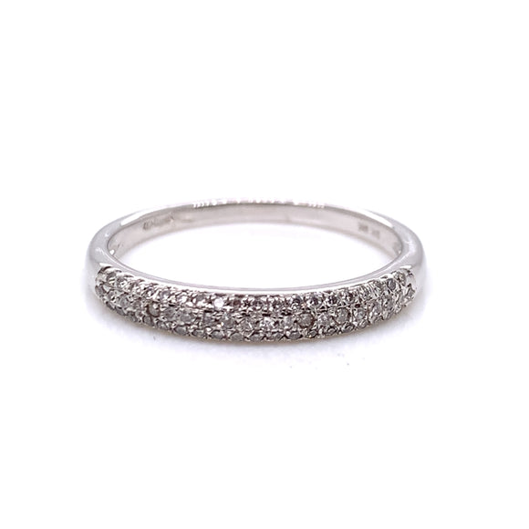 9ct White Gold Diamond 0.15ct Eternity Ring
