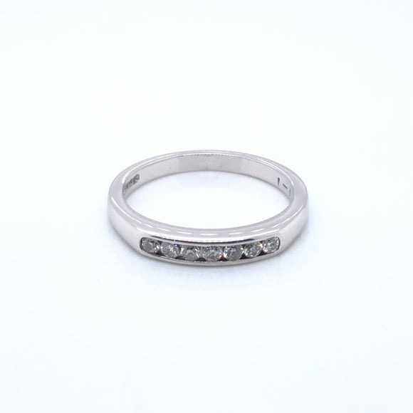 18ct White Gold Diamond Channel-set Eternity Ring