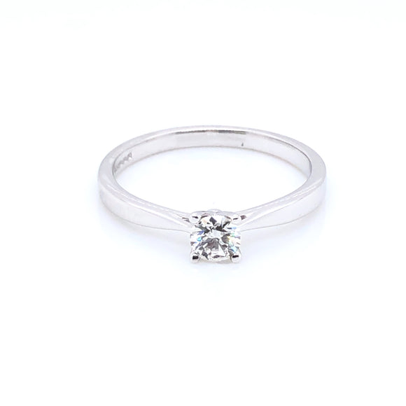 18ct White Gold 0.25ct Diamond Classic Solitaire Ring