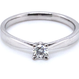 18ct White Gold Diamond Classic Solitaire Ring