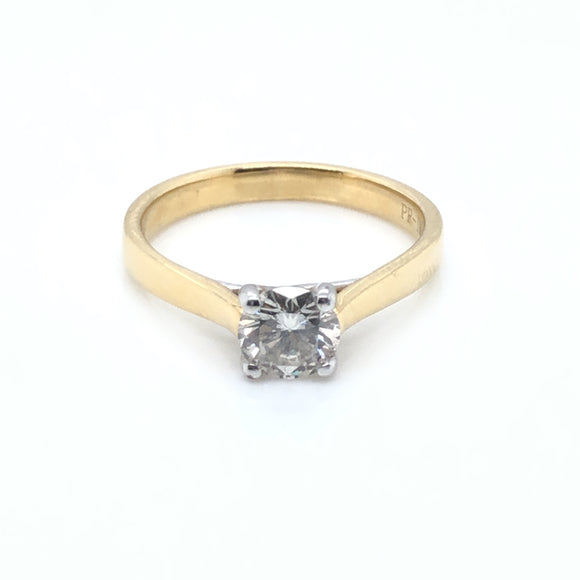 18ct Gold 0.73ct Diamond Classic Solitaire Ring