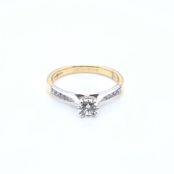 18ct Gold 0.47ct Diamond Classic Solitaire Ring
