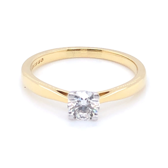 18ct Gold 0.40ct Diamond Classic Solitaire Ring