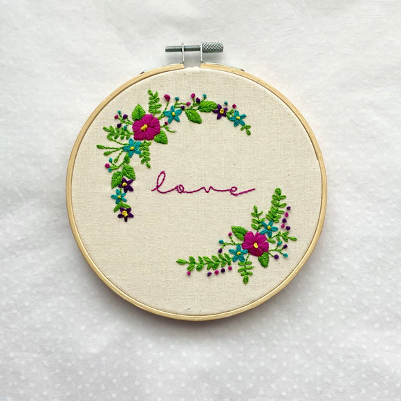 Floral Love Embroidery kit