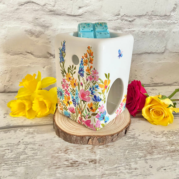 Rainbow Flowers Wax Burner
