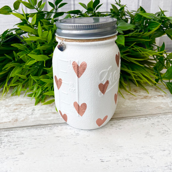 Rose Gold Heart Medium Jar