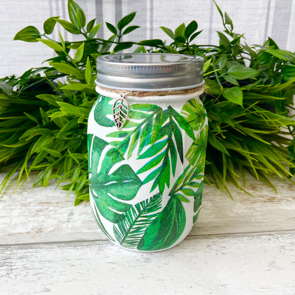 Monstera Leaf Medium Jar