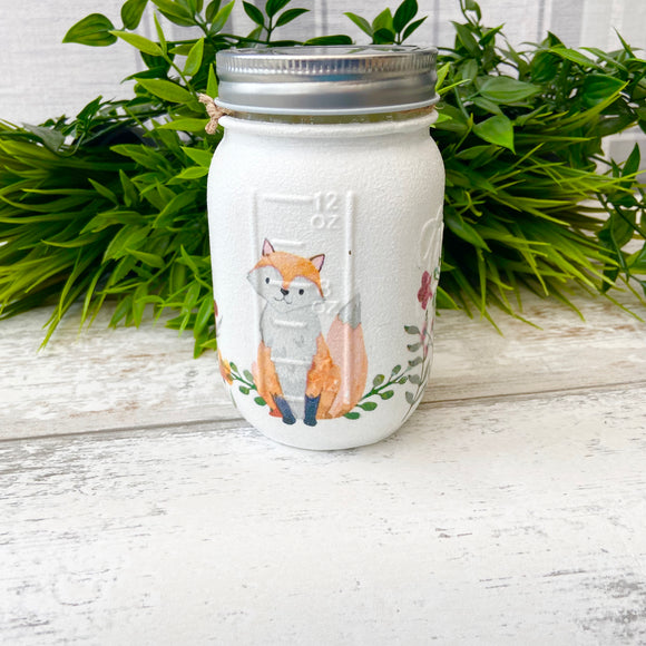 Fox and the Flowers Medium Medium Jar