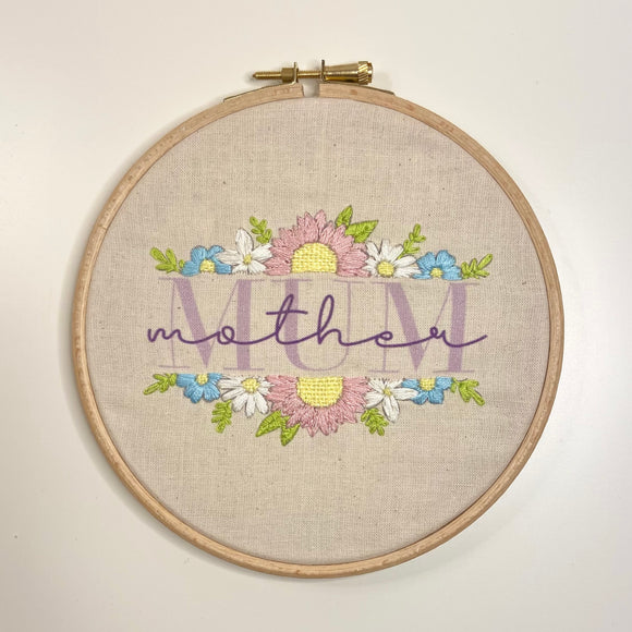 Floral Mum Embroidery Kit