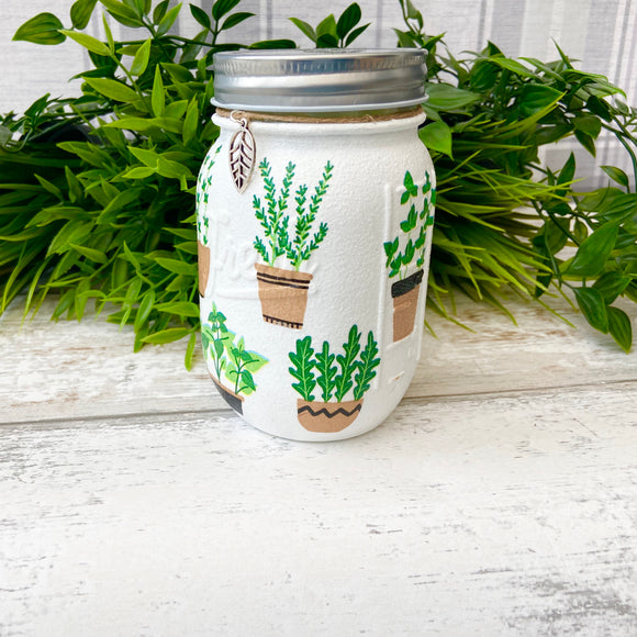 Window Box Herbs Medium Jar