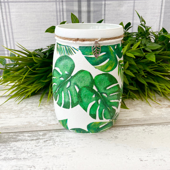 Monstera Leaf Large Jar