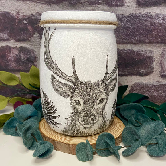 Stag in the Woods Large Jar