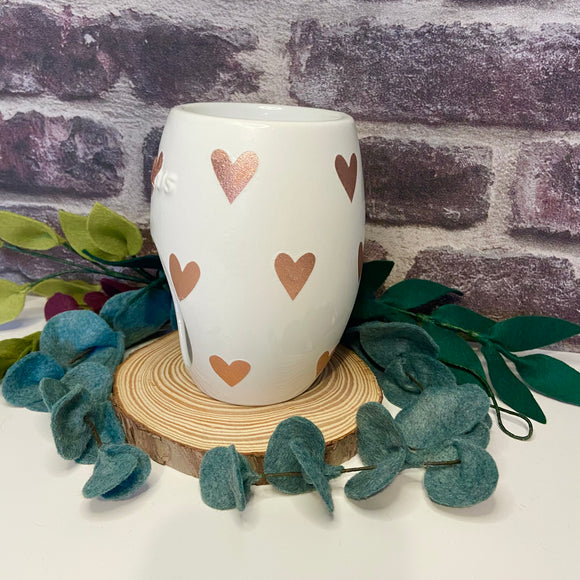 Rose Gold Heart Wax Burner