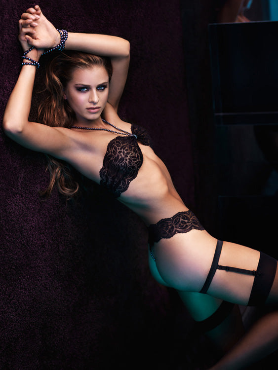 Paris Ebony Pearl Thong - The Bracli Boutique
