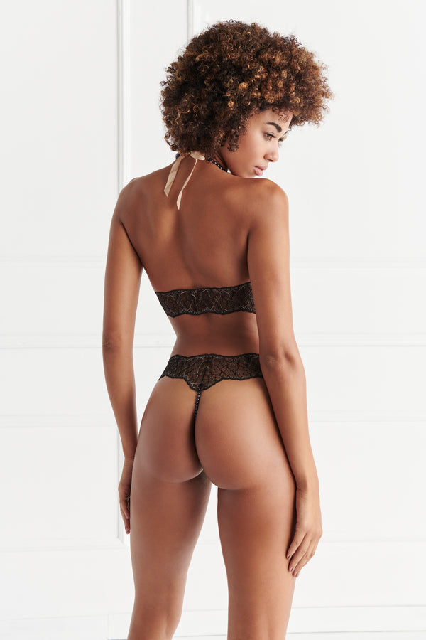 Sydney Ebony Thong - The Bracli Boutique