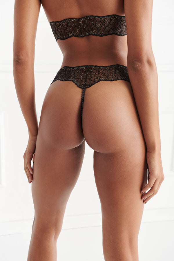 Sydney Ebony Double Thong - The Bracli Boutique