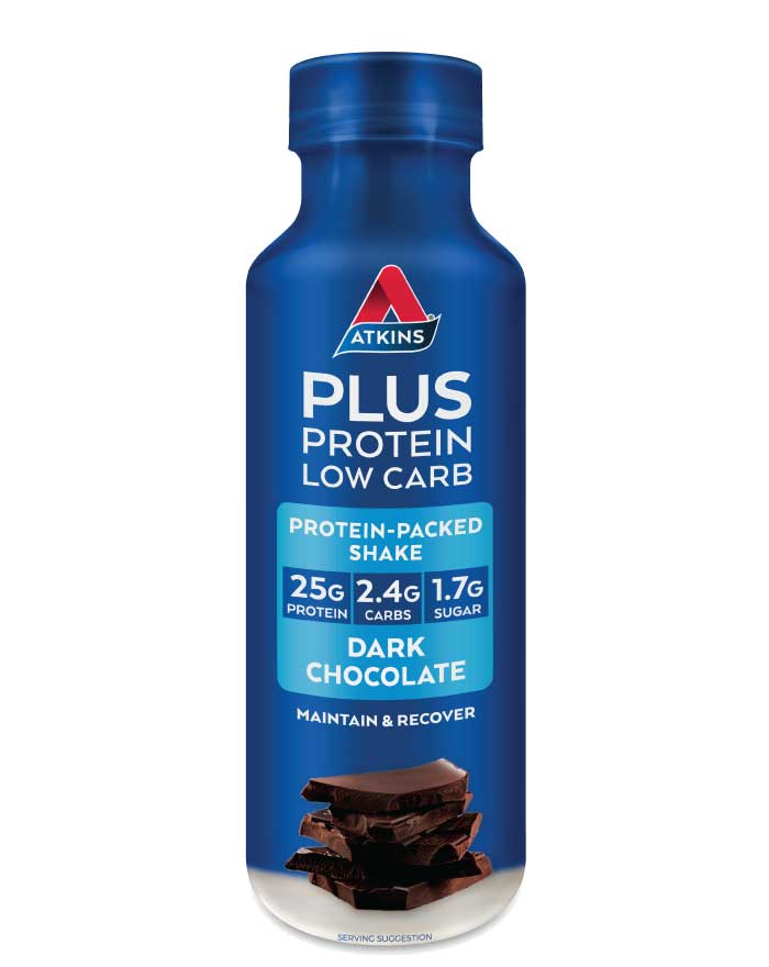 Atkins Plus Protein Low Carb Shake Dark Chocolate 400ml - Fresh Food Enterprises