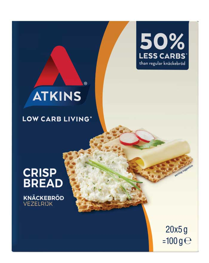 Atkins Low Carb Crisp Bread 100g - Fresh Food Enterprises