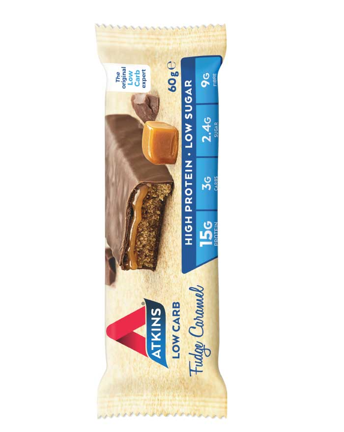 Atkins Advantage Fudge Caramel 60g - Fresh Food Enterprises