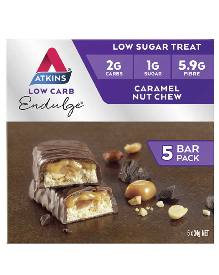 Atkins Endulge Multipack Caramel Nut Chew 170g - Fresh Food Enterprises