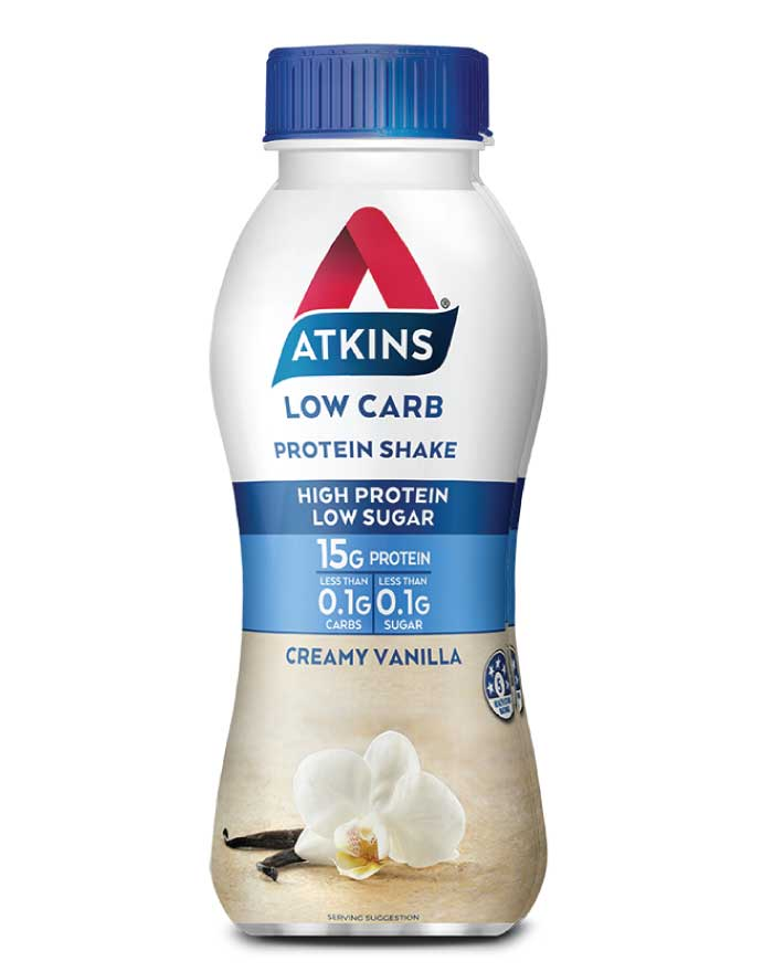 Atkins Vanilla Lo Carb Protein Shake 330ml - Fresh Food Enterprises