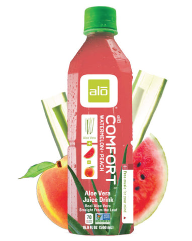 ALO Comfort Aloe, Watermelon & Peach 12 x 500ml - Fresh Food Enterprises