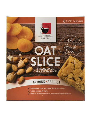 All Natural Bakery Multipack Oat Slice Almond & Apricot 240g - Fresh Food Enterprises