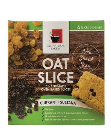 All Natural Bakery Multipack Oat Slice Currant & Sultana 240g - Fresh Food Enterprises