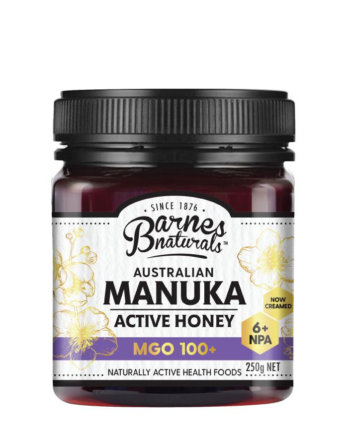 Barnes Naturals Manuka Honey MGO 100+ 1 x 250g - Fresh Food Enterprises