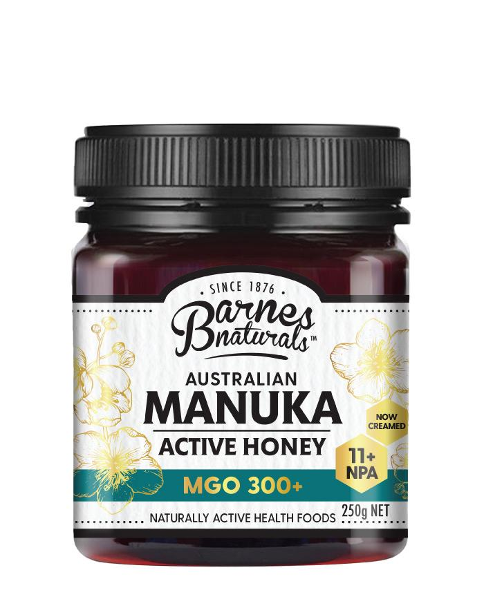 Barnes Naturals Manuka Honey MGO 300+ 1 x 250g - Fresh Food Enterprises