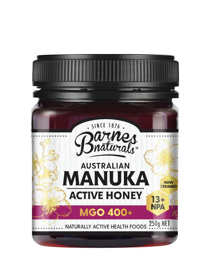 Barnes Naturals Manuka Honey MGO 400+ 1 x 250g - Fresh Food Enterprises