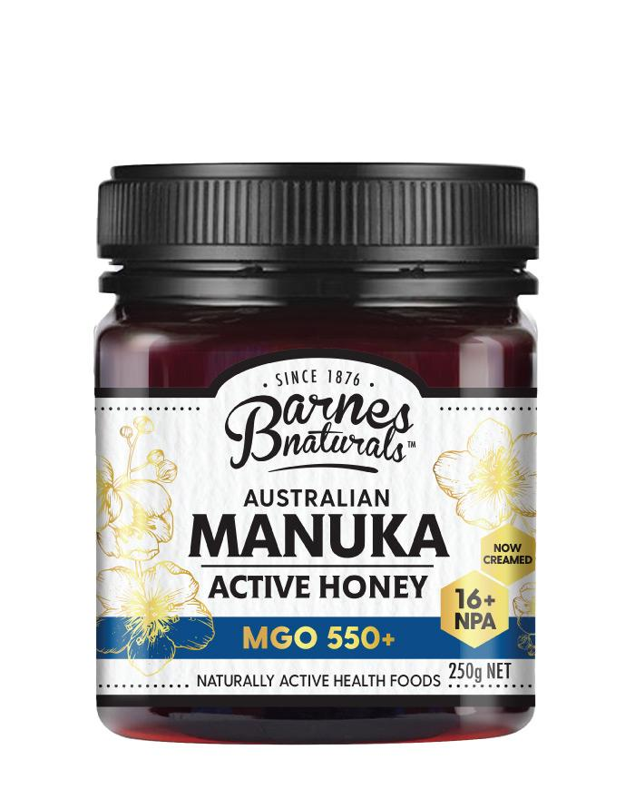 Barnes Naturals Manuka Honey MGO 550+ 1 x 250g - Fresh Food Enterprises