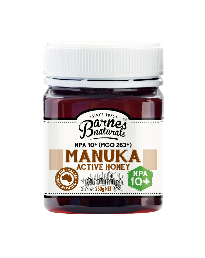 Barnes Naturals Active Manuka Honey 10+ 250g - Fresh Food Enterprises