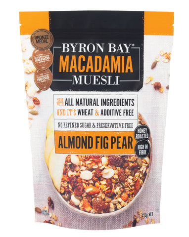 Byron Bay Macadamia Muesli Almond Fig & Pear 450g - Fresh Food Enterprises