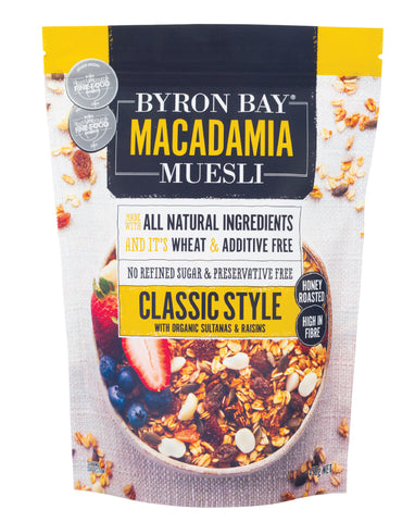Byron Bay Macadamia Muesli Classic 450g - Fresh Food Enterprises